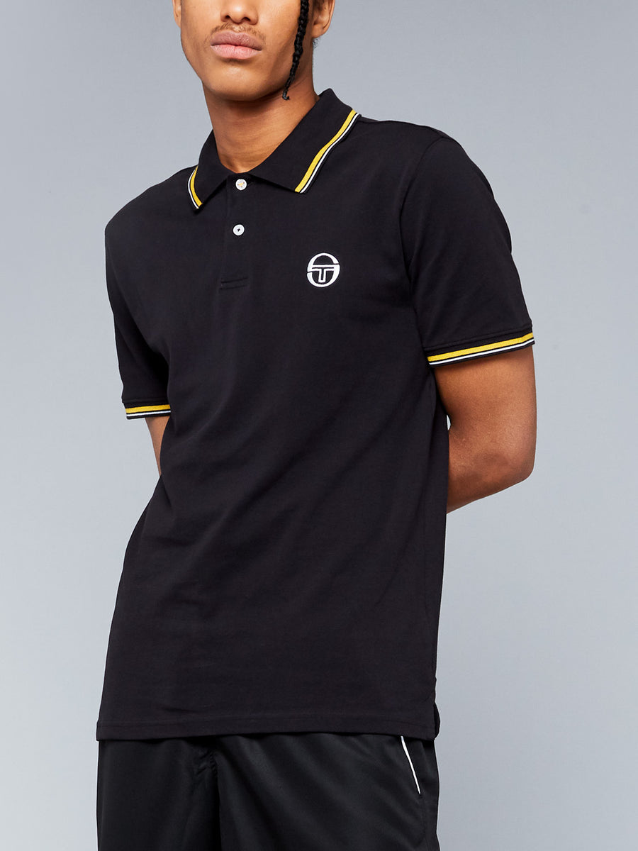 SERGIO 020 POLO - BLACK/SAFFRON YELLOW