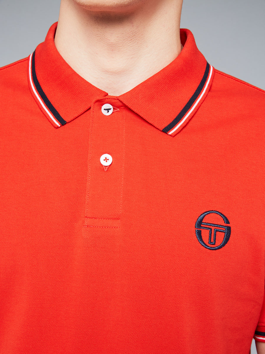 SERGIO 020 POLO - VINTAGE RED/WHITE