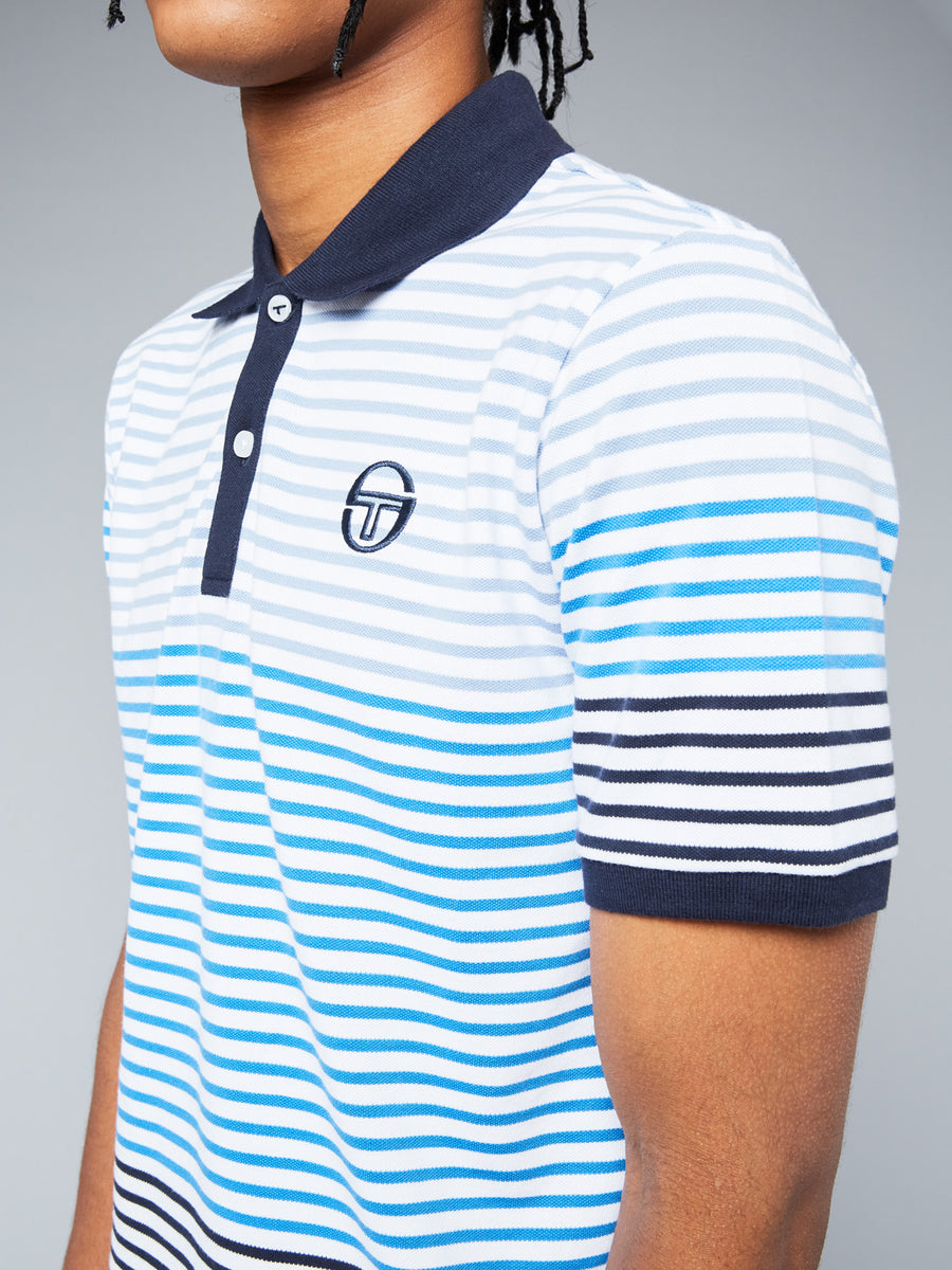 FRIEND POLO - WHITE/NAVY