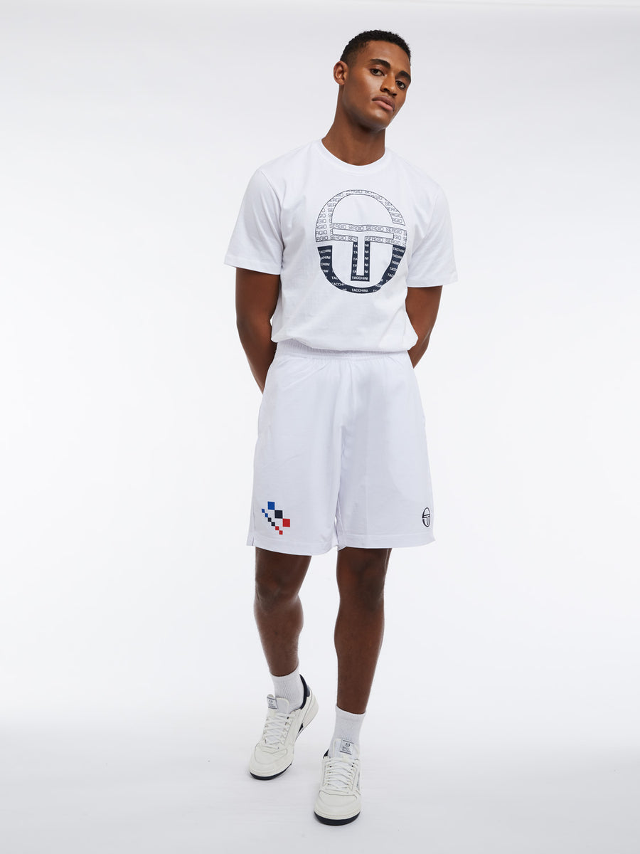 Check Shorts - OPTICAL WHITE