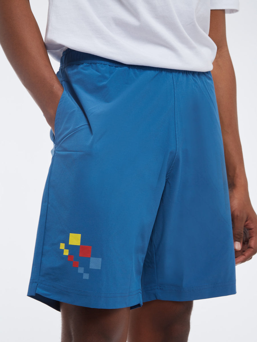 Check Shorts - LYON BLUE/SUN YELLOW