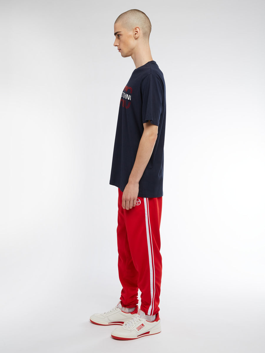 Bowl T-Shirt - NAVY/RED