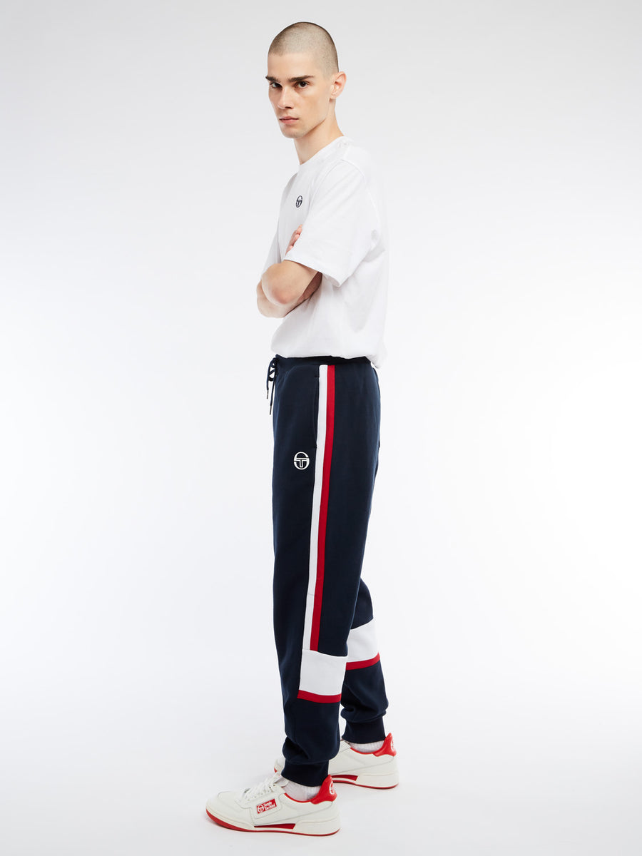 Beat Sweatpants - NAVY/APPLE RED