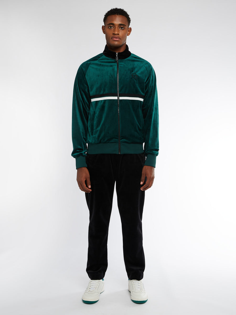 Dallas Velour Track Jacket Archivio - BOTANICAL/BLACK