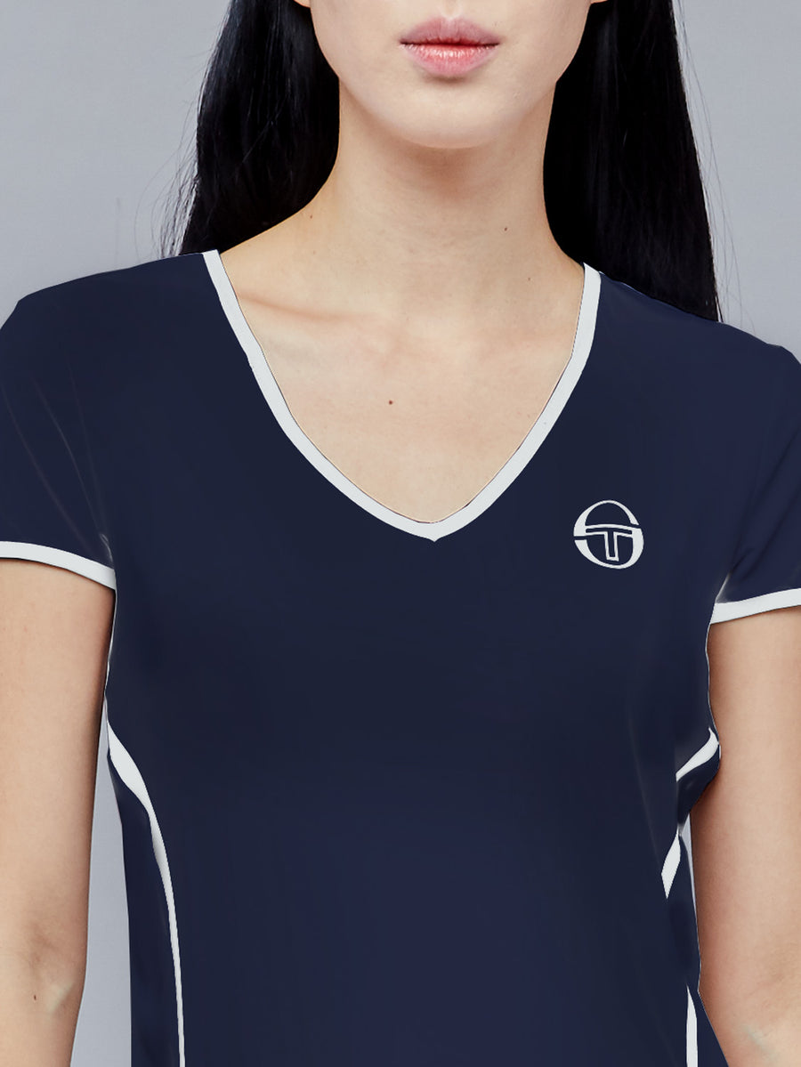 EVA T-SHIRT - NAVY/WHITE