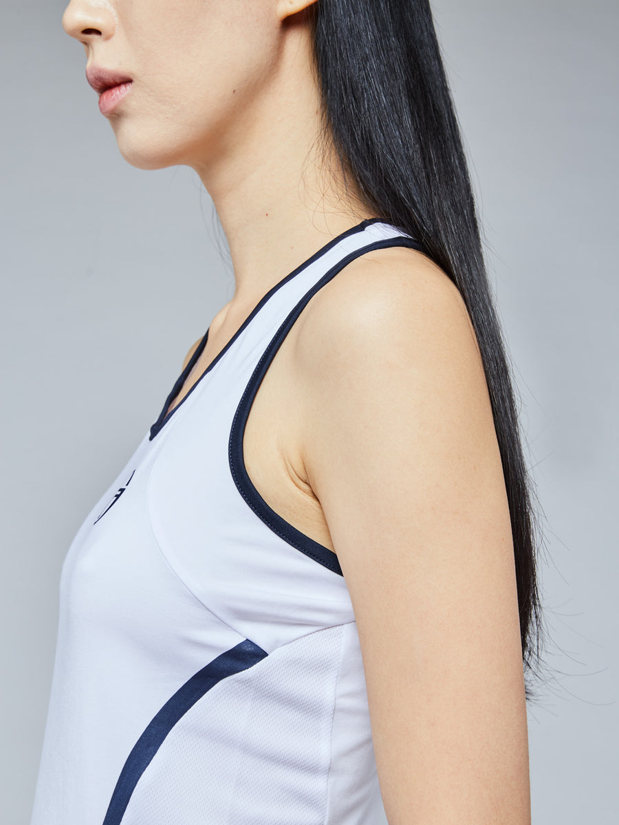 EVA TANK TOP - WHITE/NAVY