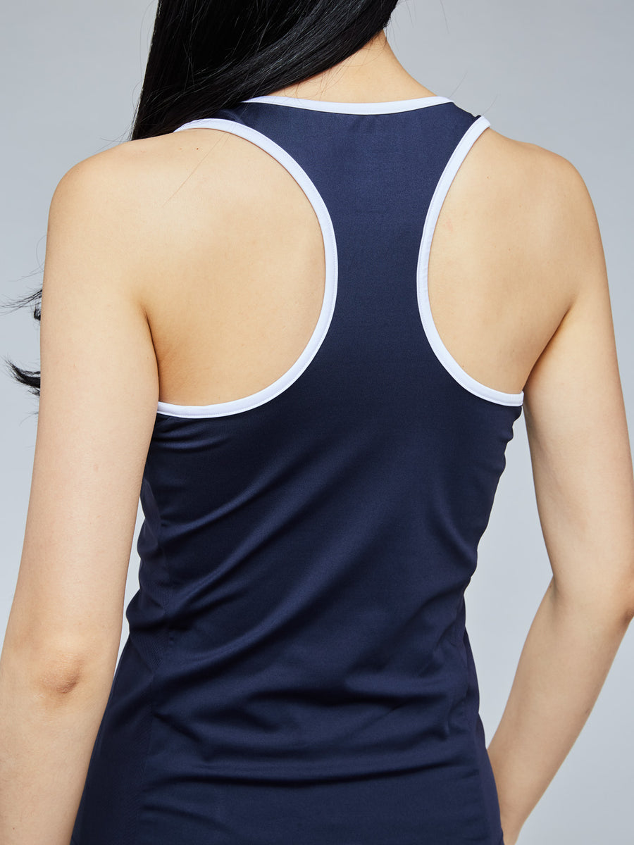 EVA TANK TOP - NAVY/WHITE
