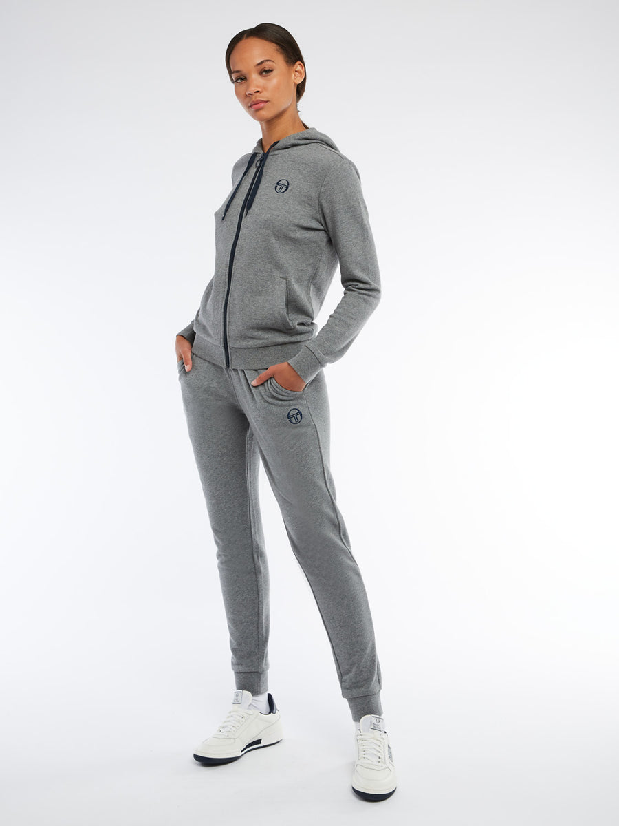 Ella Sweatpants - DARK GREY MELANGE/NAVY