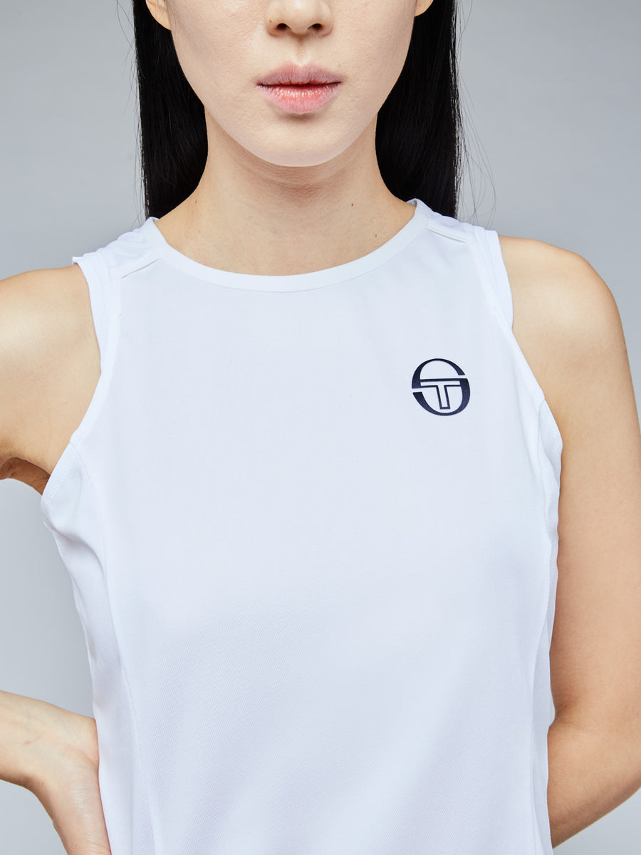 PLIAGE TANK TOP - WHITE/NAVY