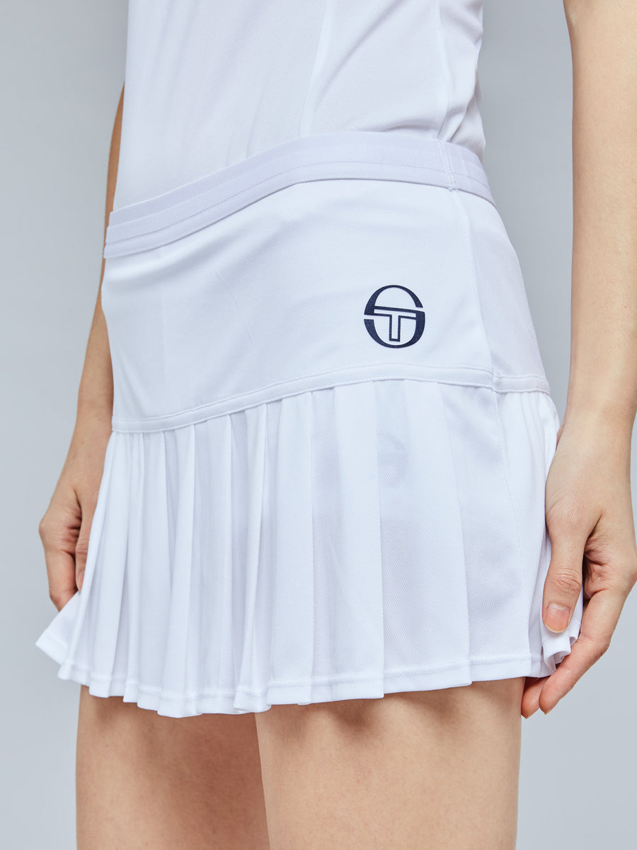 PLIAGE SKORT - WHITE/NAVY