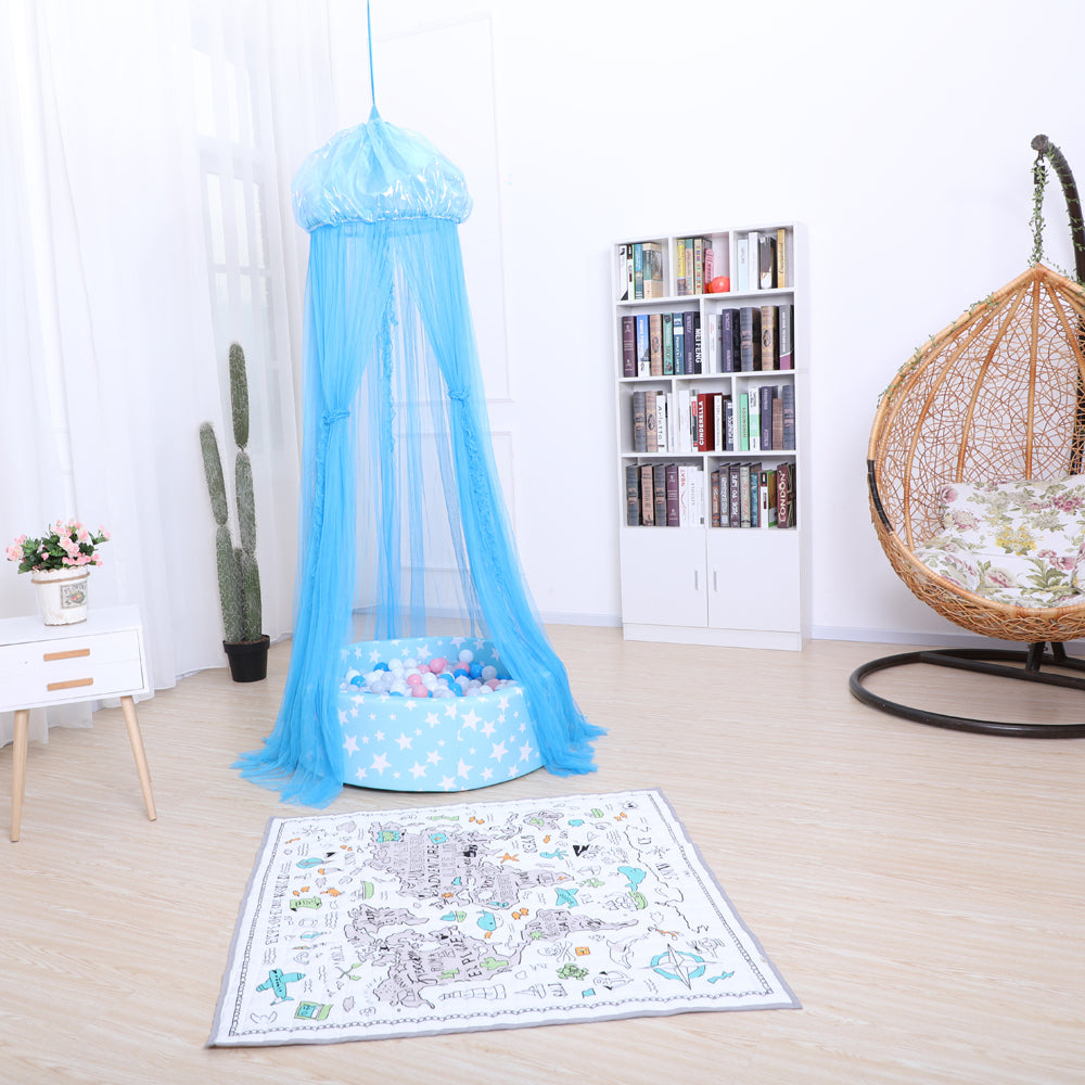 Baby Bedding Round Dome Bed Canopy Kids Play Tent Hanging Mosquito