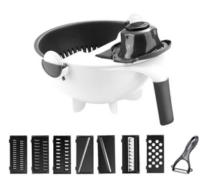 Multi-function rotary vegetable cutter