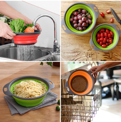 Kitchen Collapsible Fruit Vegetable Strainer