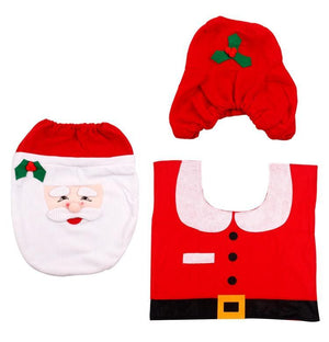 SANTA TOILET SEAT COVER - CHRISTMAS DECORATIONS