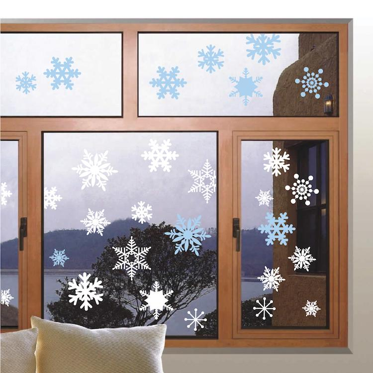 Removable Snowflake Wall