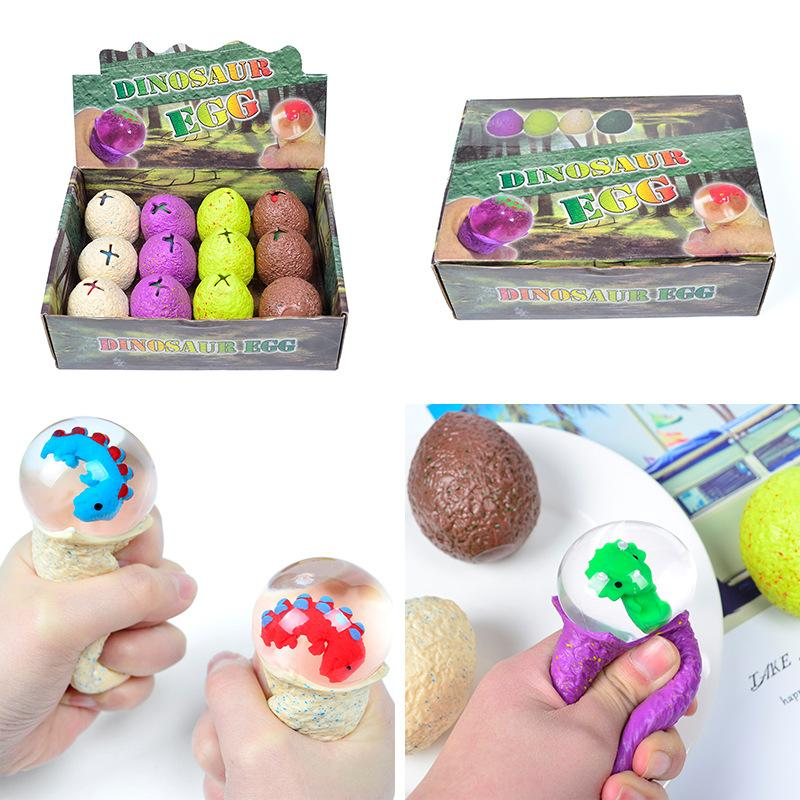 Dinosaur Egg Squeezable Stress Relief Toy Ball for Adult And Kids Gifts
