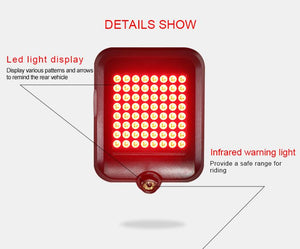 Intelligent LED Waterproof USB Rechargeable Bicycle Turn Signal Lights