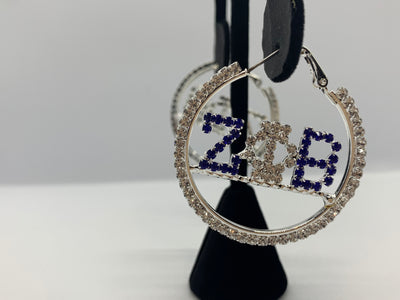ZPHIB Rhinestone Hoop Earrings - Fashionably Zeta