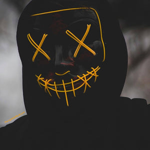 Light Up Mask - The Purge, Stitches  - 8 COLOR Options - Flashing Modes - TheLightUpMask