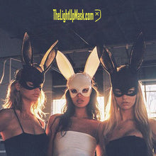 Load image into Gallery viewer, Bunny Mask Rabbit Ears Face Mask | 4 Color Options | Playboy Rave Festival Halloween Costume Party