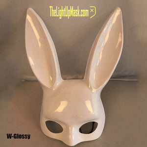 Bunny Mask Rabbit Ears Face Mask | 4 Color Options | Playboy Rave Festival Halloween Costume Party