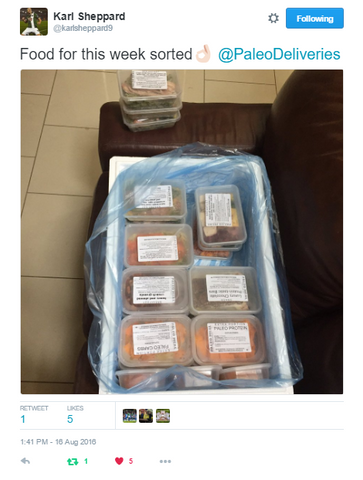 Karl Sheppard orders Paleo delivery to Cork