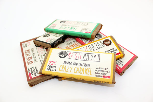 3 X Magic Mayan RAW Chocolate Bars
