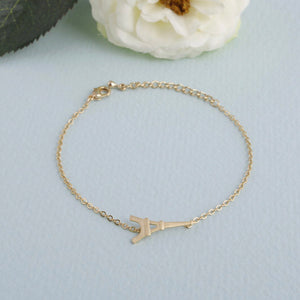 Single Paris Eiffel Tower Charm Bracelet