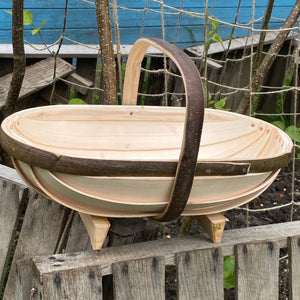 Luxury Handmade Authentic Oval Garden Sussex Trugs (Medium No.5) - The Cottage Gardener