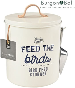 'Feed the Birds' Bird Food Tin - Stone - The Cottage Gardener