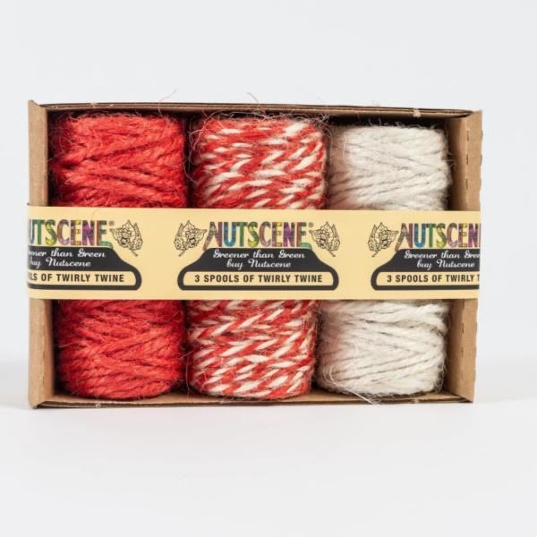 Jute Twine Mini Spool Set - Candy Cane Red - The Cottage Gardener