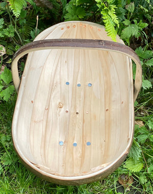Luxury Handmade Authentic Oval Garden Sussex Trugs (Large No.6) - The Cottage Gardener