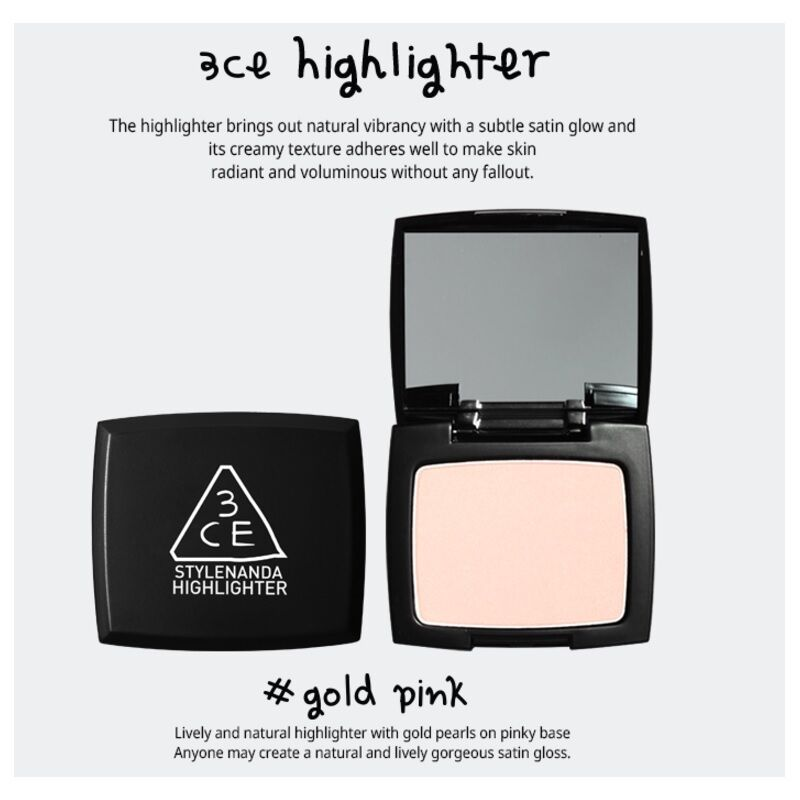 Highlighter #Gold Pink - Blooming Cosmetics