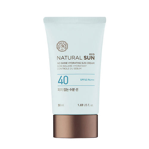 Natural Sun Eco No Shine Hydrating Sun Cream SPF 50+ / PA+++ - Blooming Cosmetics