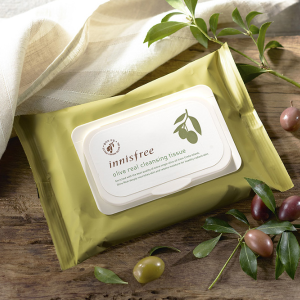 Olive Real Cleansing Tissue - Blooming Cosmetics