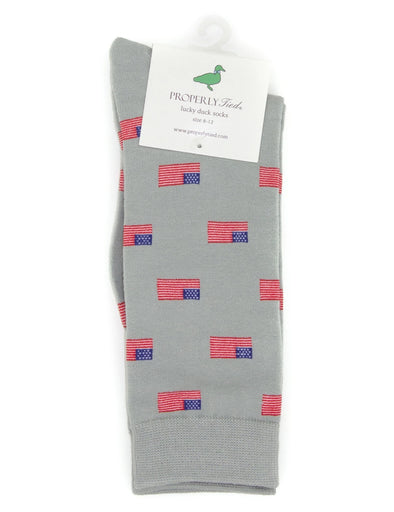 PROPERLY TIED  LUCKY DUCK SOCK AMERICAN FLAG