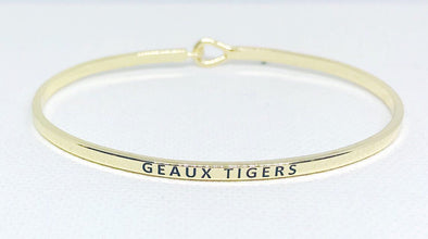 Geaux Tigers or Geaux Saints Bangle