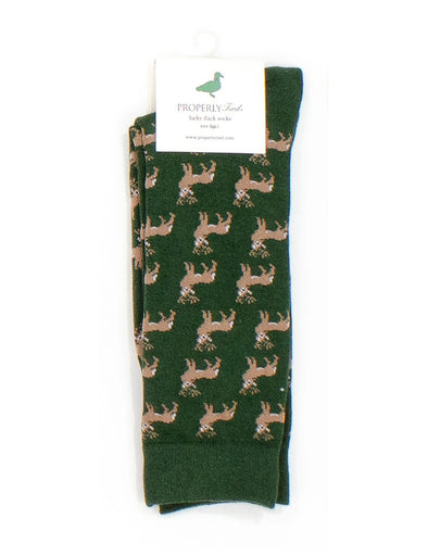 PROPERLY TIED  LUCKY DUCK SOCK WHITETAIL