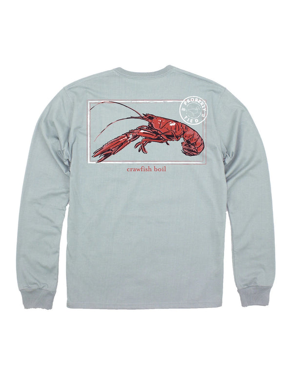 PROPERLY TIED  LD CRAWFISH SEASON LS CHROME GREY