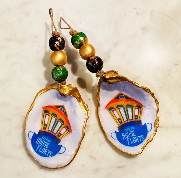 Krewe of House Float Oyster Ornament