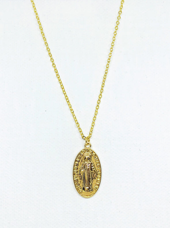 Blessed Mary Charm Necklace