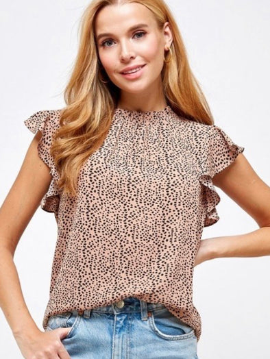 Fitted and Animal Print Top