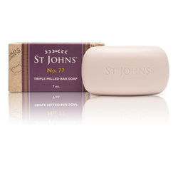 No 77 Bath Soap for Men by St Johns | 7 Oz Bar Luxury Bath Soap Bar | St Johns Fragrance Co