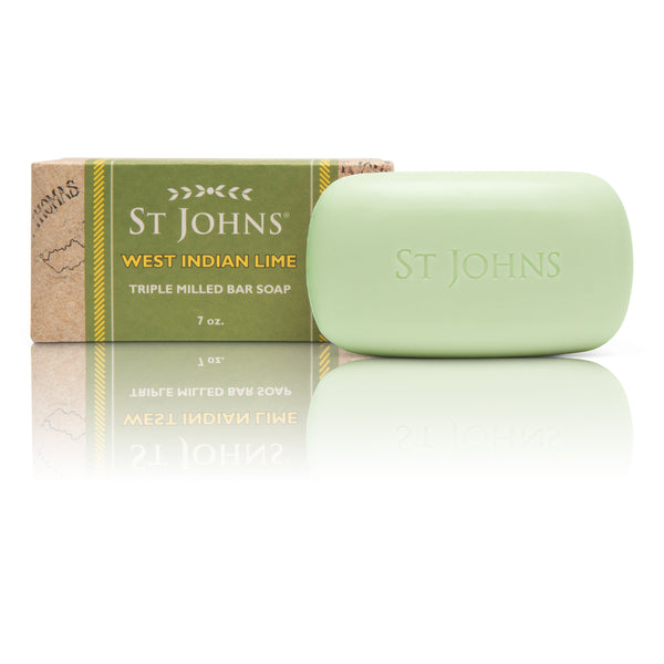 West Indian Lime Bath Soap for Men by St Johns | 7 Oz Luxury Mens Bath Soap | St Johns Fragrance Co