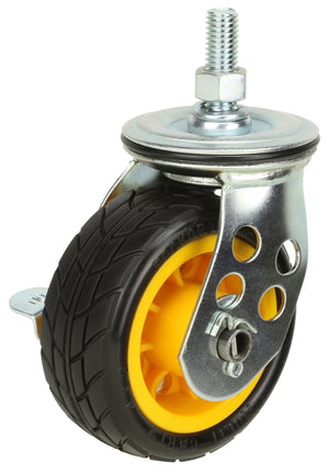 "4"" x 2"" Ground Glder Wide caster w/brake (upgrade for R2) - 2pk"