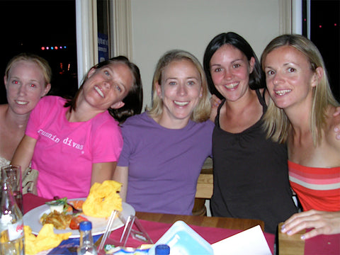 Back in the day, Lueven 2006 with Kim Smith, Marie Davenport, Amy Rudolph, Mary Cullen and I