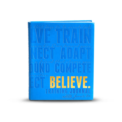 NEW! Believe Training Journal (Boston Blue)