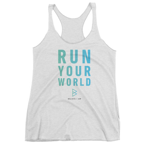 RUN YOUR WORLD – Women's tank top