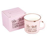 Be Still and Know - Pink Camp Style Coffee Mug