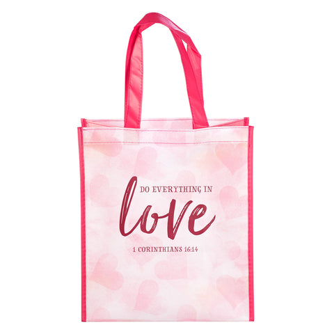 Do Everything in Love Tote Bag - 1 Corinthians 16:14